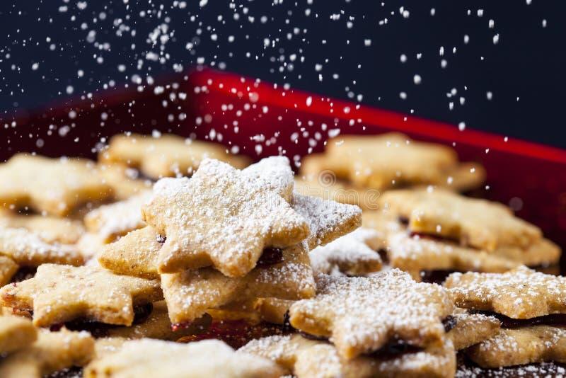 Gebakjes & gepoederde suiker 5 van Chrismas stock fotografie
