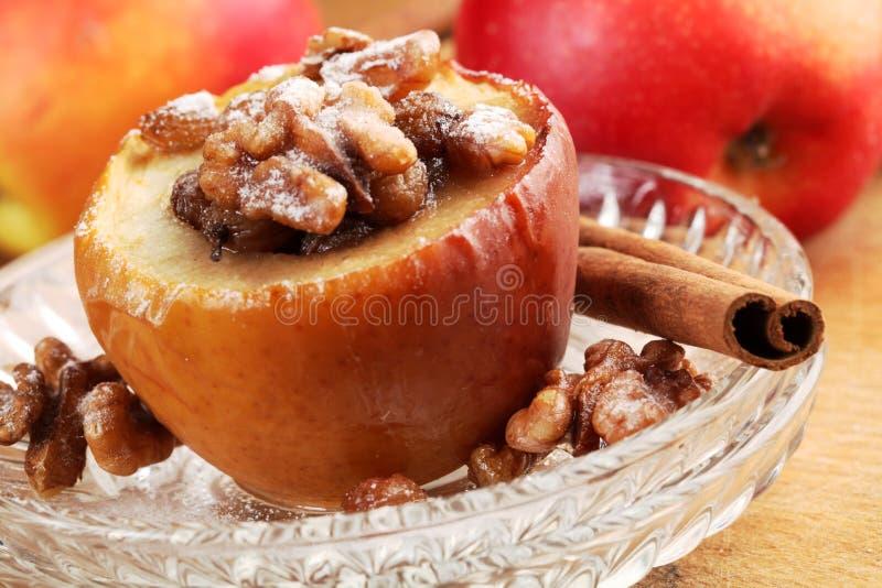 Gebakken appel royalty-vrije stock fotografie