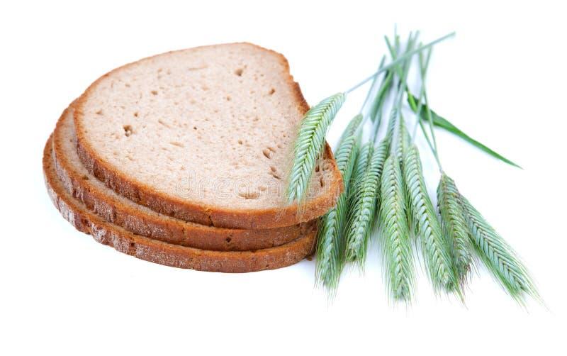 Gebakken brood met oren stock foto's