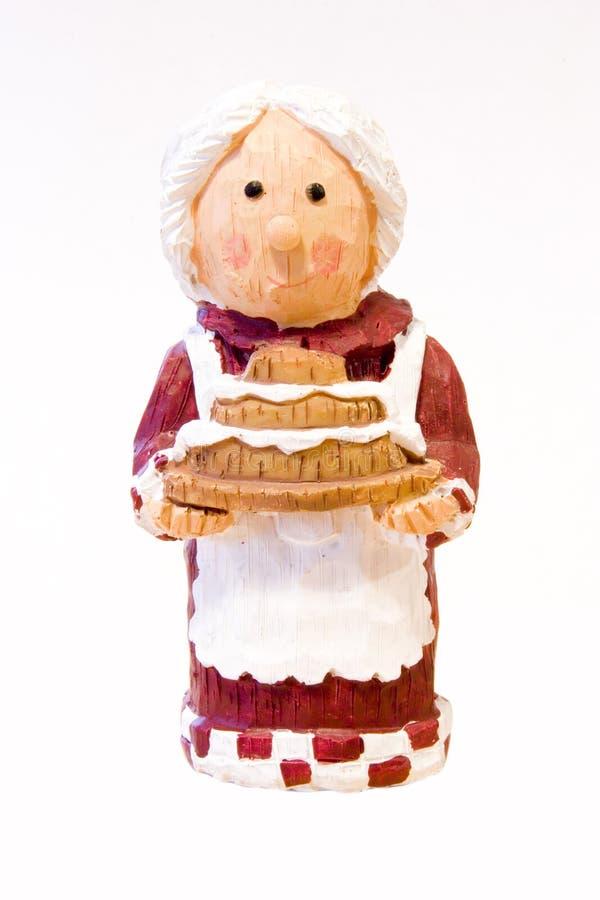 Gebakken cake voor Kerstmis royalty-vrije stock afbeelding