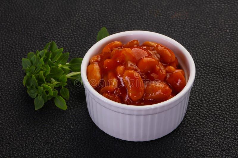 Gebakken nier met tomatensaus royalty-vrije stock foto