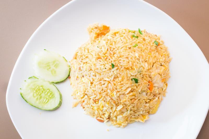 Gebakken rijst met ananas royalty-vrije stock fotografie