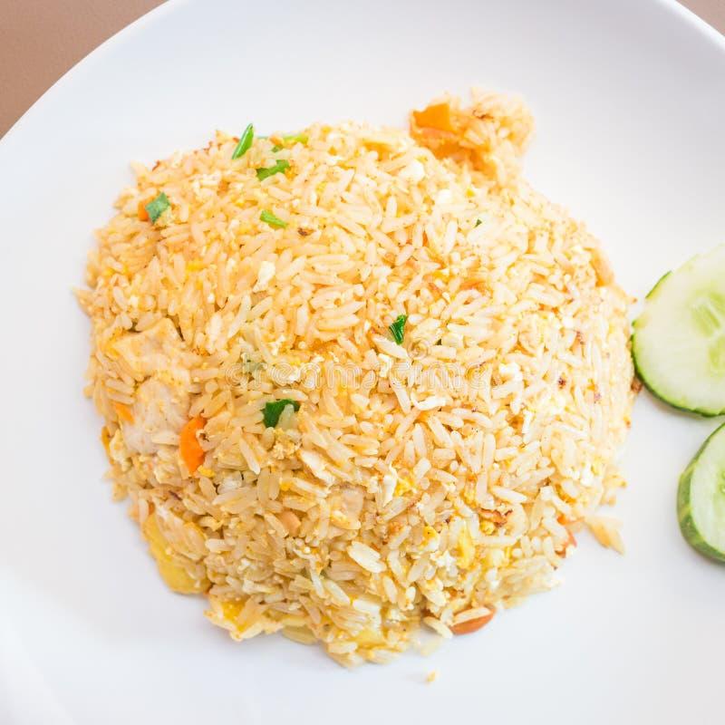 Gebakken rijst met ananas stock fotografie
