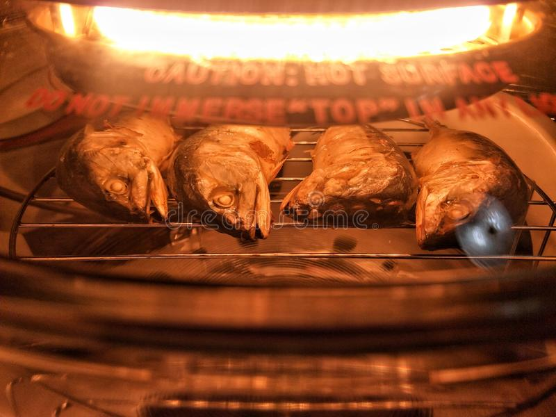 Gebakken Thaise Makreel in oven royalty-vrije stock foto's
