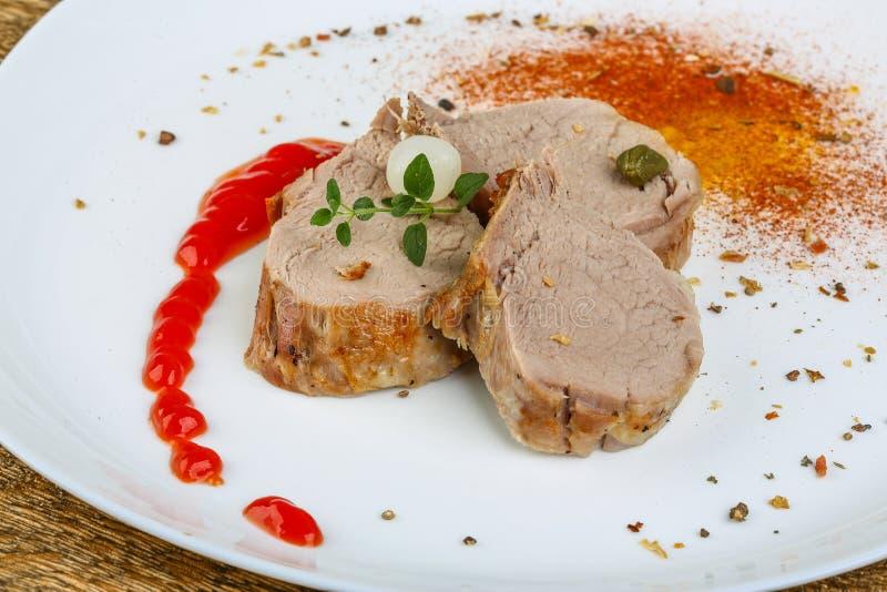 Gebakken varkensvlees stock afbeeldingen
