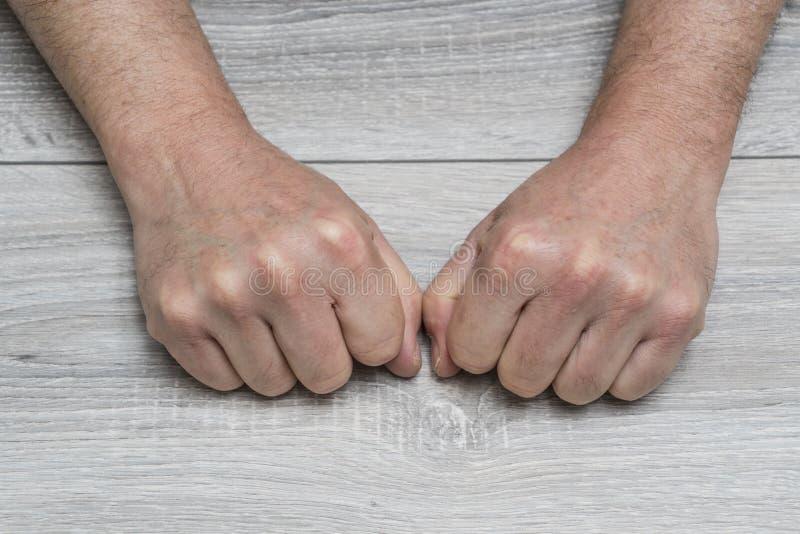Gebaren met de handen stock afbeelding