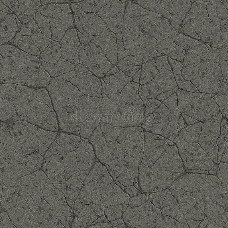 Gebarsten asfalt naadloze textuur stock foto's