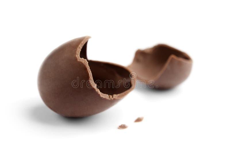 Gebarsten chocoladeei