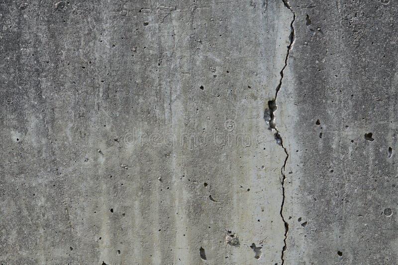 Gebarsten Concrete Muur stock afbeelding