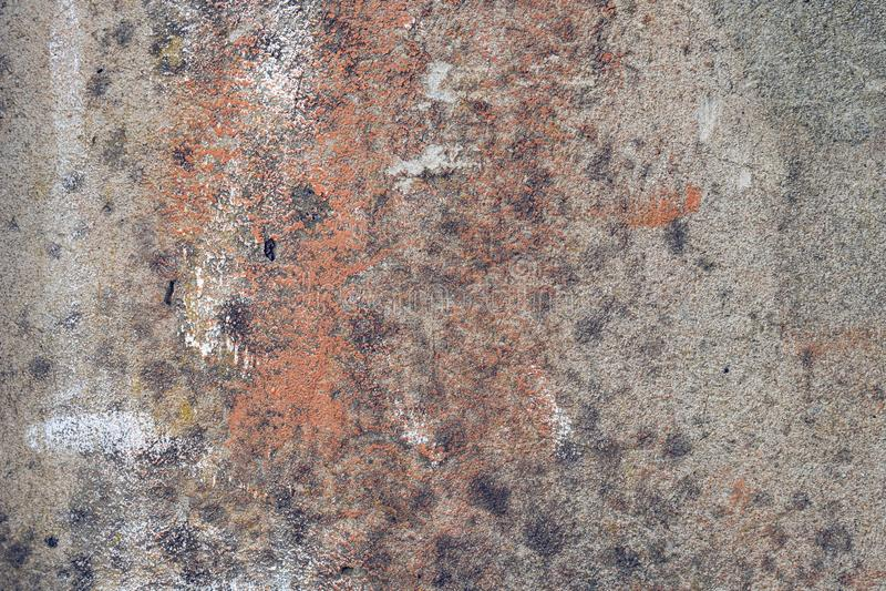 Gebarsten concrete uitstekende muurachtergrond, oude muur royalty-vrije stock fotografie