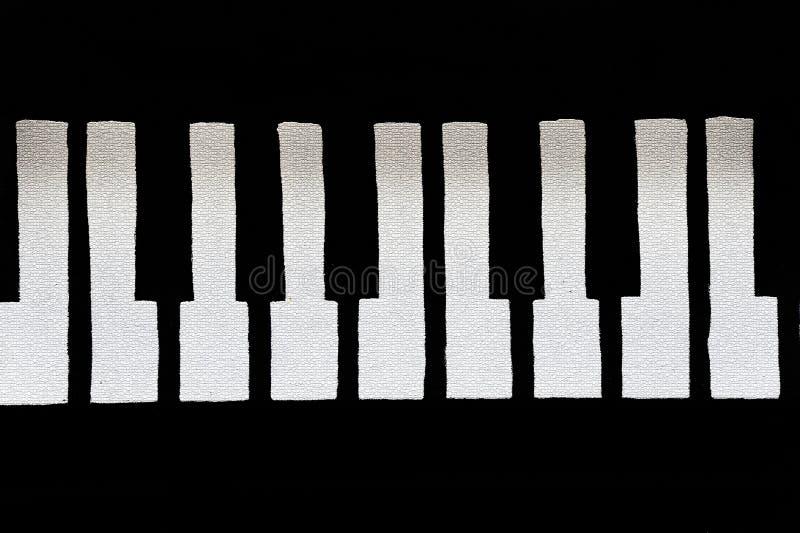 Gebarsten en Brosse Pianosleutels royalty-vrije illustratie