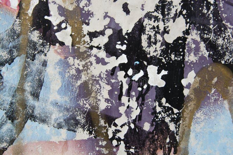 Gebarsten en schil kleurrijke verf, grunge oude muurtextuur Tempalte voor ontwerp stock afbeeldingen