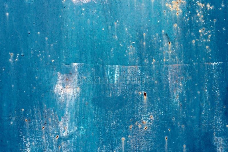 Gebarsten geschilderde oude metaaltextuur stock foto