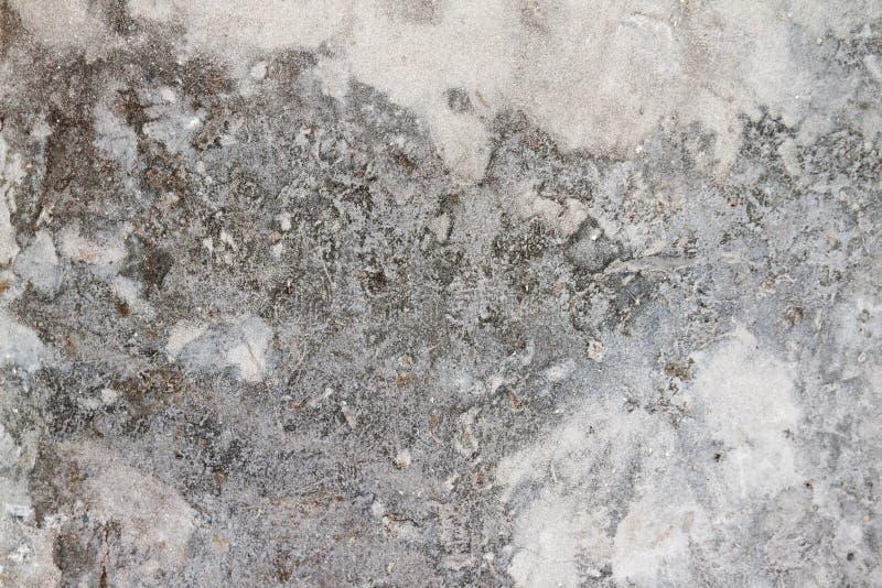 Gebarsten Grunge openlucht opgepoetste grijze concrete textuur royalty-vrije stock fotografie