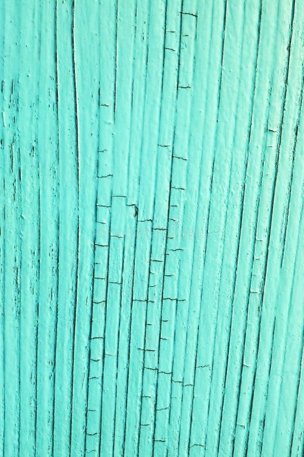 Gebarsten houten blauwe plank, royalty-vrije stock afbeeldingen