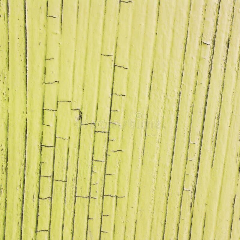 Gebarsten houten plank, gele kleur royalty-vrije stock afbeelding