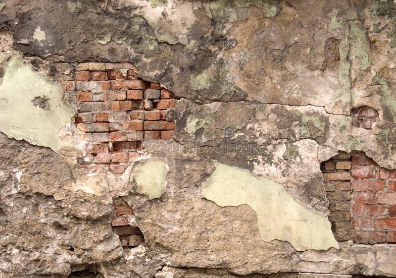 Gebarsten muur royalty-vrije stock afbeeldingen