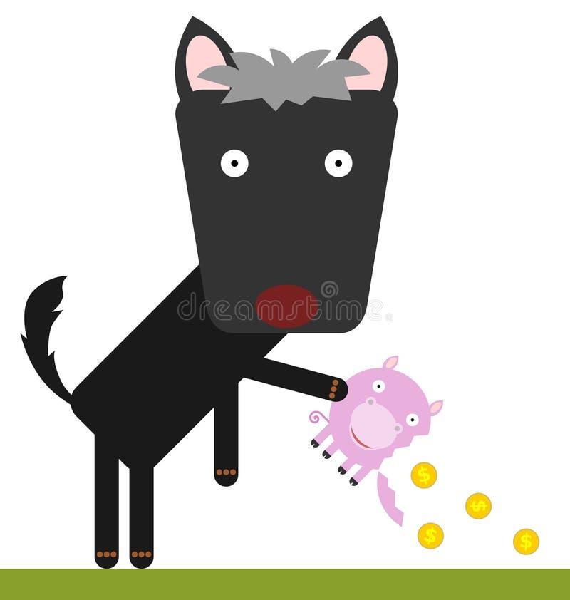 Gebarsten piggy royalty-vrije illustratie
