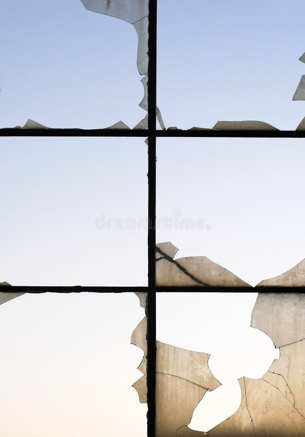 Gebarsten vensters royalty-vrije stock afbeeldingen