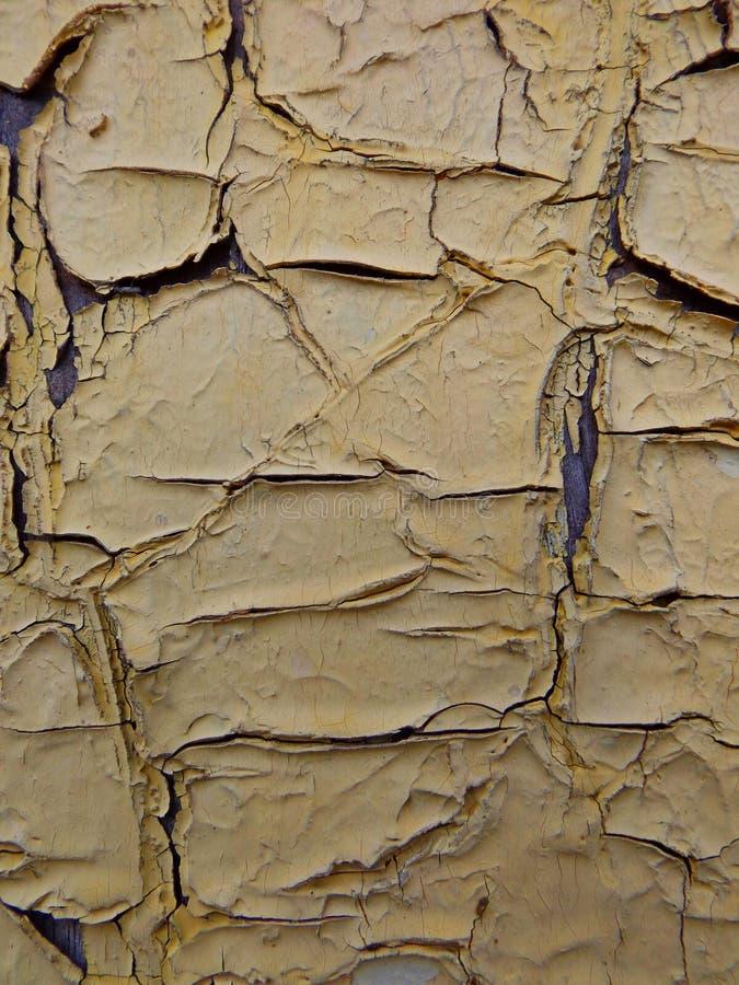 Gebarsten verf stock afbeelding