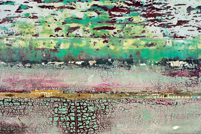 Gebarsten verf - abstracte grungeachtergrond stock afbeelding