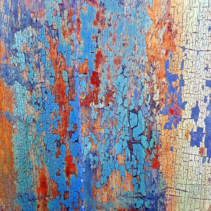 Gebarsten verf - abstracte grungeachtergrond Patroon, muur Oude Houten textuurachtergrond royalty-vrije stock fotografie