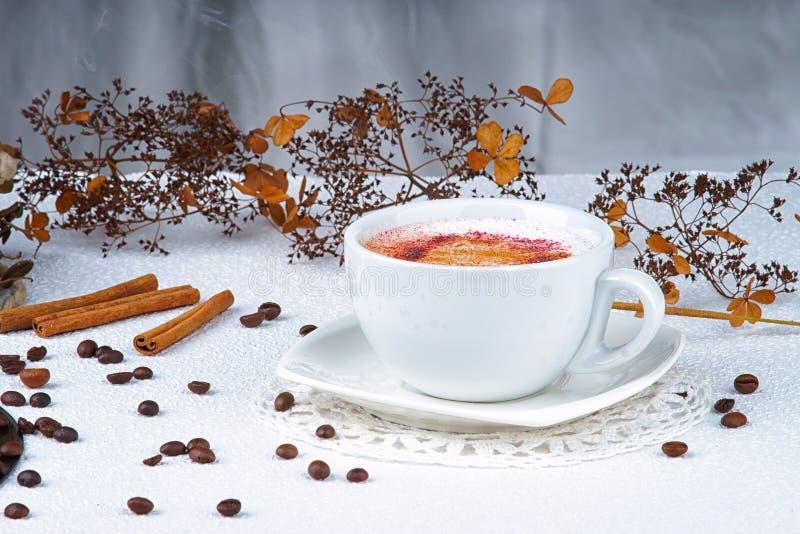 Gebeëindigde Cappuccino's stock foto's