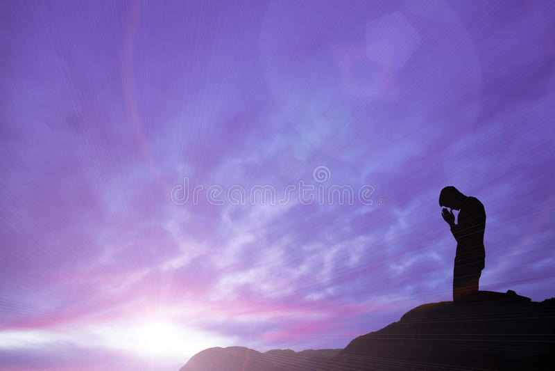 Gebed royalty-vrije stock afbeelding