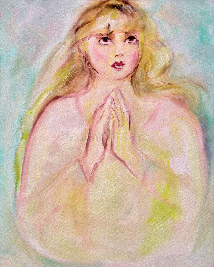 Gebed royalty-vrije illustratie