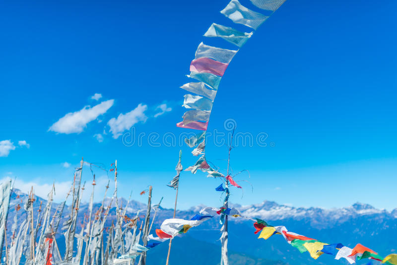 Gebedvlaggen royalty-vrije stock foto