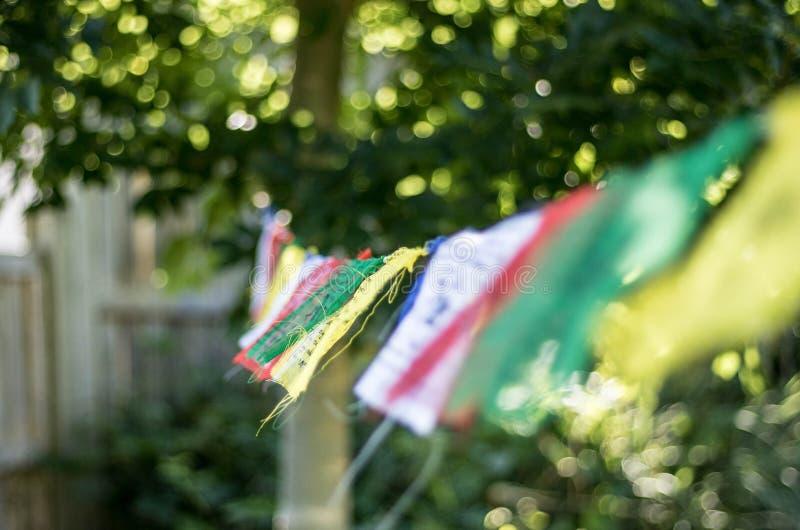 Gebedvlaggen stock afbeelding