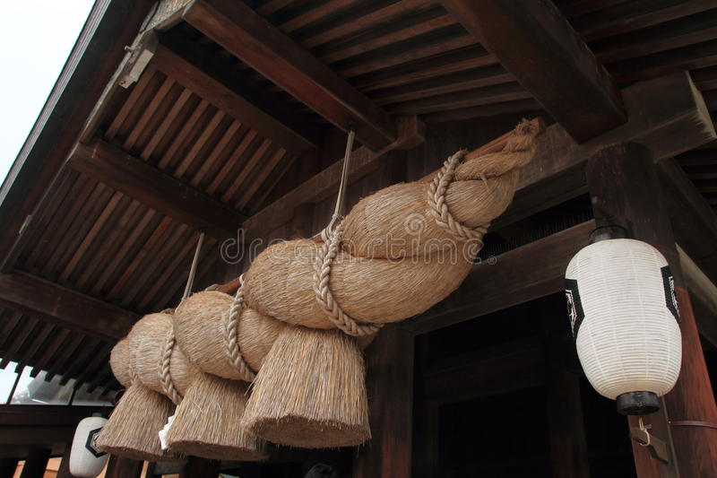 Gebedzaal van het Heiligdom van Izumo Taisha royalty-vrije stock fotografie