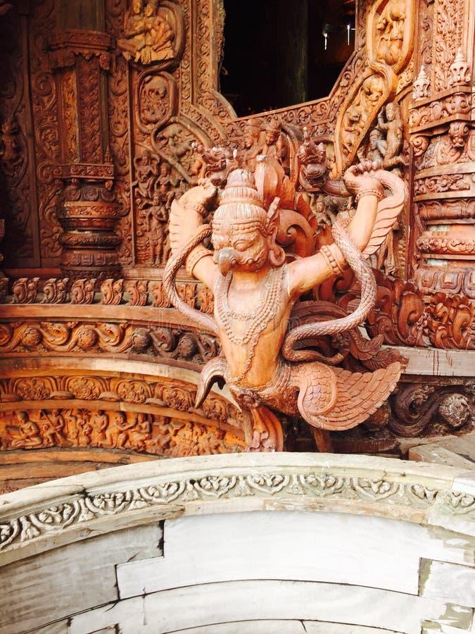 Gebeeldhouwd houten Thailand royalty-vrije stock fotografie