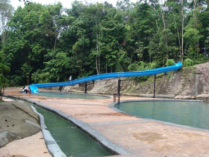 Gebeeldhouwd Water Playpark stock afbeelding