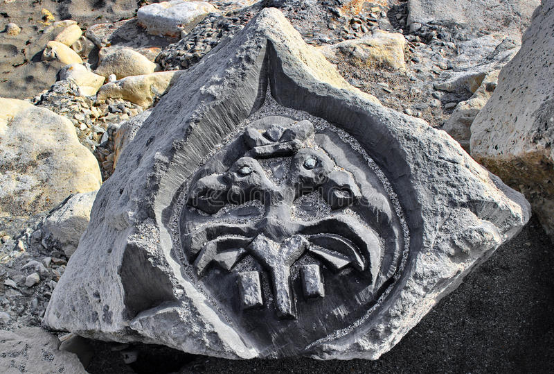Gebeeldhouwde steen stock afbeelding