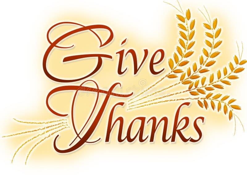Geben Sie Dank