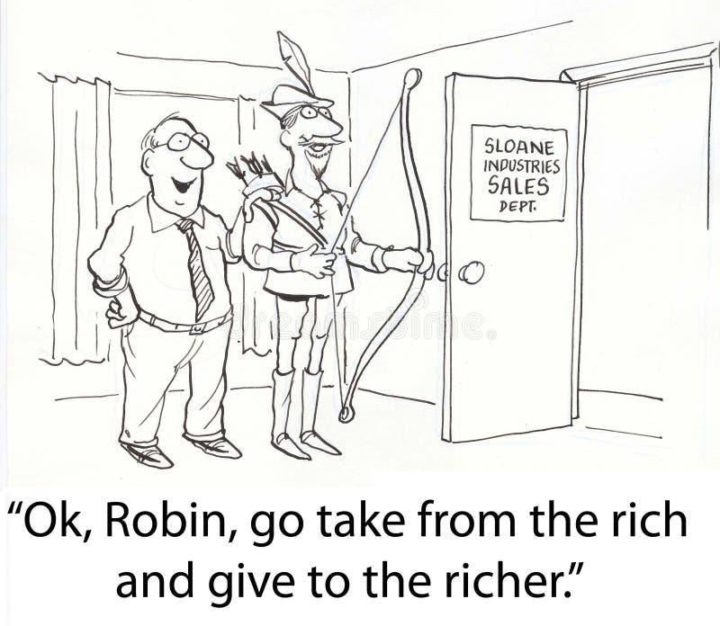 Geben Sie den Reichen stock abbildung