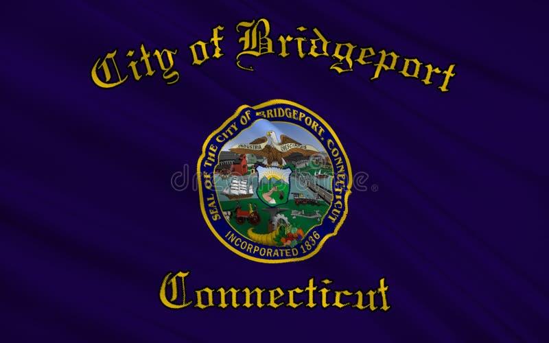 Geben Sie Flagge von Bridgeport - eine Stadt in den Vereinigten Staaten, in Conne an lizenzfreie abbildung
