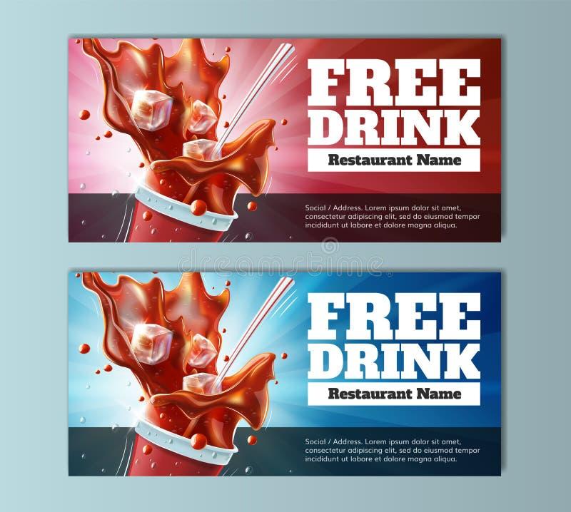 Geben Sie Getränk-Belege frei stock abbildung
