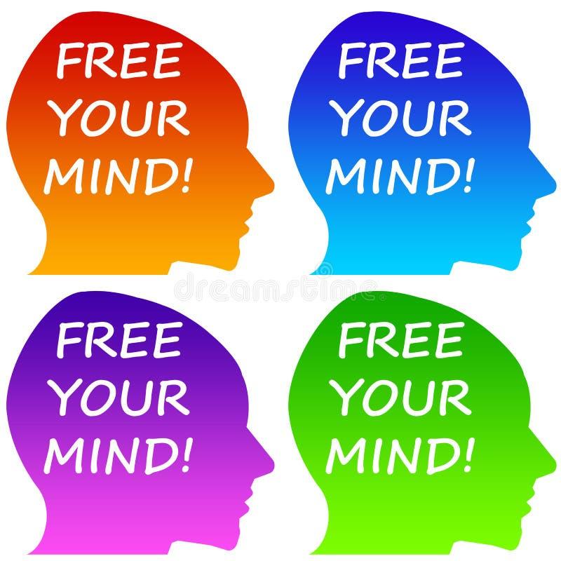 Geben Sie Ihren Verstand frei stock abbildung