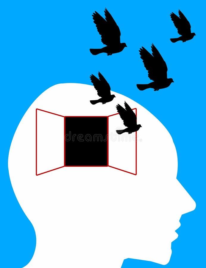 Geben Sie Ihren Verstand frei lizenzfreie abbildung