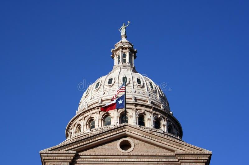 Geben Sie Kapitol-Gebäude in im Stadtzentrum gelegenem Austin, Texas an stockfoto