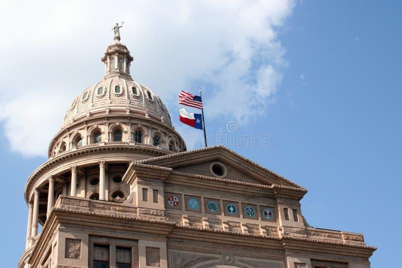 Geben Sie Kapitol-Gebäude in im Stadtzentrum gelegenem Austin, Texas an stockbilder
