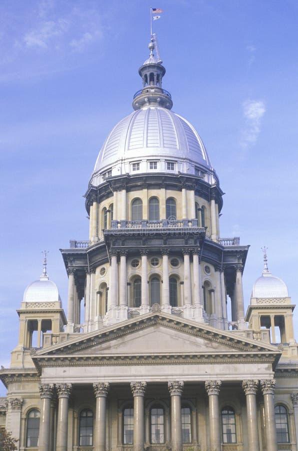 Geben Sie Kapitol Von Illinois An Stockfotos
