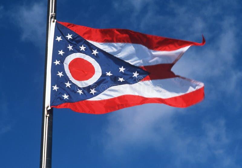 Geben Sie Markierungsfahne von Ohio an stockfotos