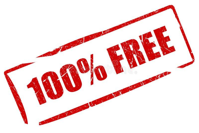 Geben Sie Stempel frei lizenzfreie abbildung