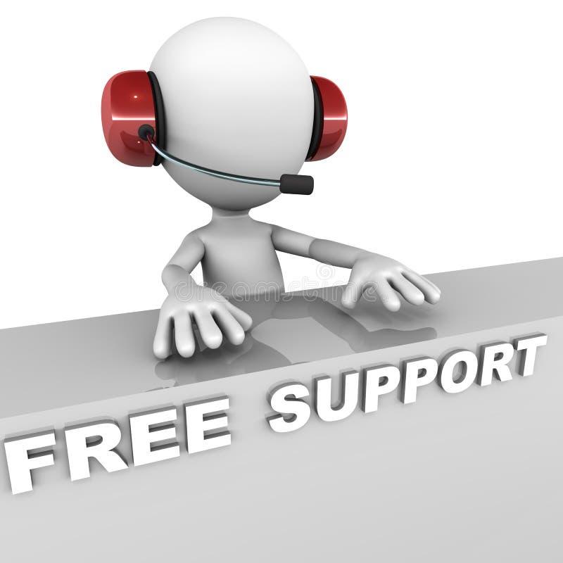Geben Sie Unterstützung frei lizenzfreie abbildung