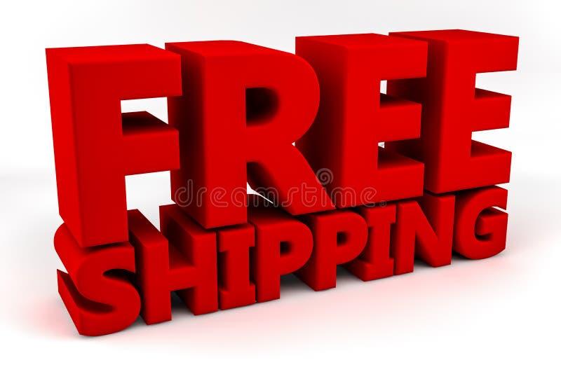Geben Sie Verschiffen frei lizenzfreie abbildung
