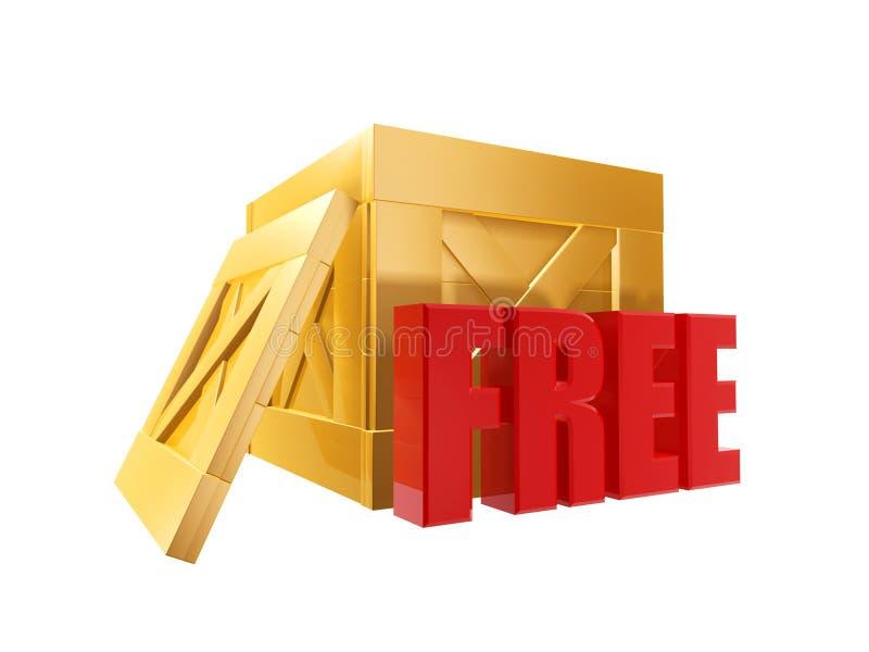 Geben Sie Verschiffen-Kasten frei vektor abbildung