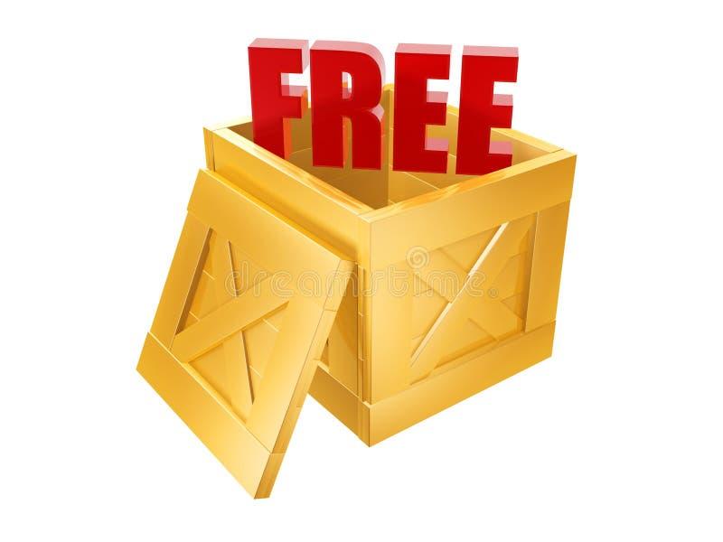 Geben Sie Verschiffen-Kasten frei lizenzfreie abbildung